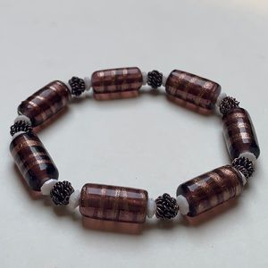 Ankle bracelet, Fall bracelet, Brown bracelet